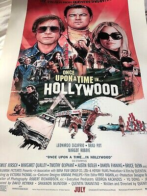 Once Upon A Time In Hollywood Theatrical DS 27x40 Minor Edge Wear New Never Used