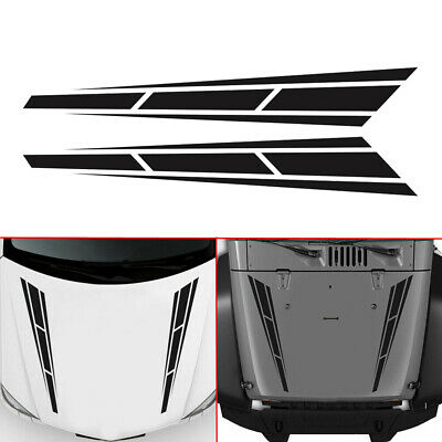 Cool Racing Stripes  Graphics Decal Hood Sticker Car Front Stickers For 1 Set