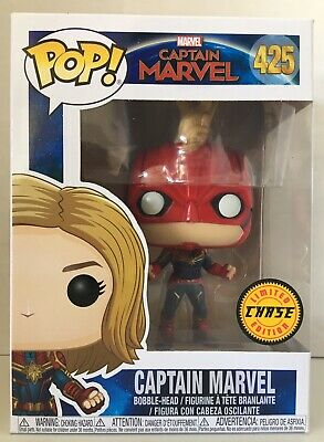 Funko Pop! Marvel MCU Captain Marvel Masked #425 CHASE Limited Edition NEW 👍