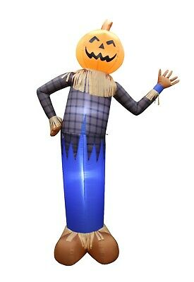 6 Foot Tall Thanksgiving Halloween Inflatable Scarecrow Pumpkin Yard Decoration