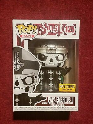 Funko Pop! Rocks Ghost Papa Emeritus Ii #125 Hot Topic Exclusive In Hand