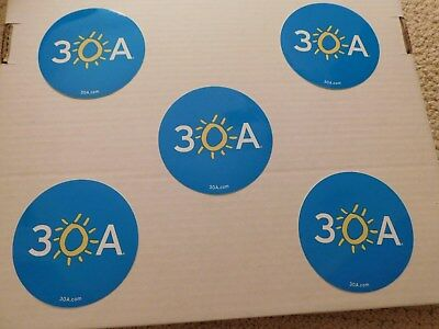 FIVE 30A 30 A 'LIFE SHINES' Bumper Car Stickers Seaside Rosemary Alys Beach