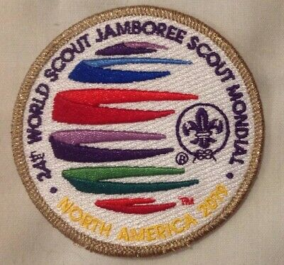 24th World Scout Jamboree 2019 Badge BSA WSJ With Rare Gold Boarder