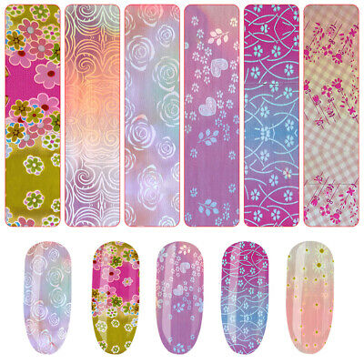 DIY Manicure Holographic Laser Nail Transfer Sticker Mixed Pattern Manicure