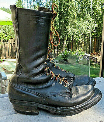 WHITE'S HAND MADE BOOTS. Size 10D tall Vintage Smokejumper logger work boots