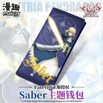 Anime Fate/Grand Order Saber Unisex Long Wallet Leather Wallet Holiday Gift COS