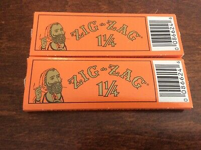 Zig Zag Orange Cigarette Rolling Papers *BUY 1 GET 1 FREE*32 Papers Pack 1¼