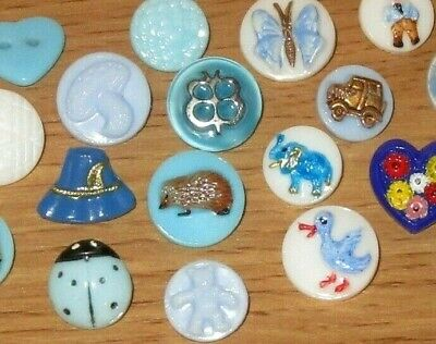 Lot Glass Paint Kiddie Child Hedgehog Jeep Hat Train Rooster Buttons CLOSE OUT!