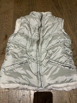 Nwot TCp Childrens Place Silver Fur White Vest Holidays Christmas Size 7/8 Trend