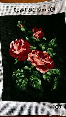 Rose Tapestry - complete and ready for frame
