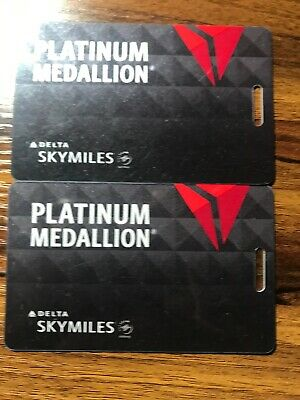 Delta Platinum Medallion Luggage Tags (2)