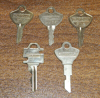 Craftsman Keys Padlock - Tool Box - Total of 5