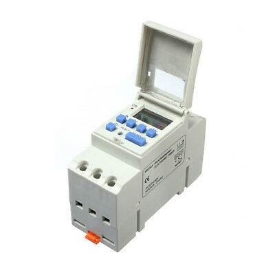 DIN Rail Digital LCD Power Programmable Timer Relay Switch AC 220-240V 16A V8 n4