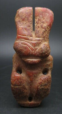Antique Mongolian Carved Stone Figure Statue, Idol God Anlien