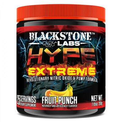 Blackstone Labs Hype Extreme - 25 Serve Pre Workout Gym Fitness Dust Weight loss