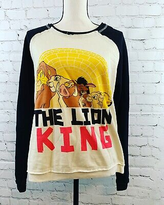 The Lion King Disney Girls Junior Long Sleeve Top Sweater Size XL 16 NWOT