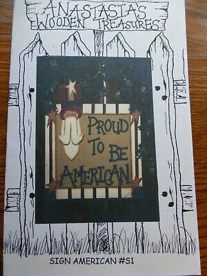 "Wood Craft Pattern ""Sign American"""