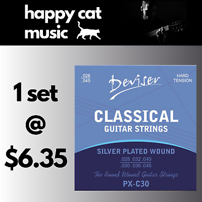 Set Of Classical Nylon Acoustic Guitar Strings (28-45) Hard Tension FREE POSTAGE