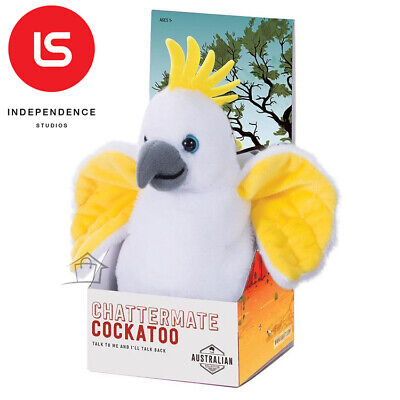 NEW Chattermate - COCKATOO - Repeats Everything You Say Plush Toy Talking Moving