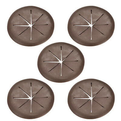 Cable Hole Cover 2-inch Soft Plastic Brown Desk Grommet for Wire Organizer 5pcs