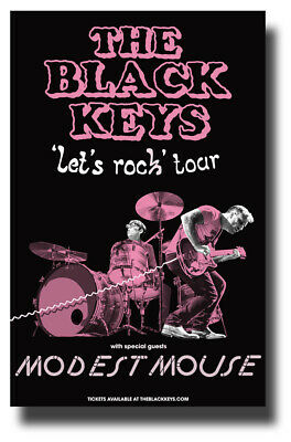 """Black Keys Poster 2019 Tour 11""""X17"""" with Modest Mouse SHIPS SAMEDAY FROM USA"""