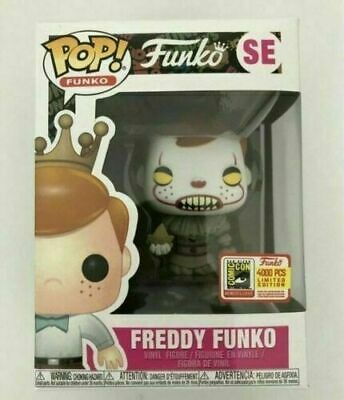 2019 Hot Funko Pop Vinyl Figure Freddy Funko Pennywise SDCC LE4000 Brand New Box