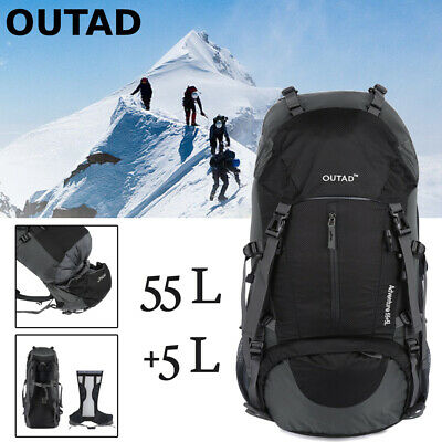 55L+5L Outdoor Camping Backpack Traveling Climbing Hiking Packs Trekking OUTAD