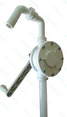 Rotary Drum Pump PP - Water AdBlue Acid Thinners Alcohol Acetone & lots more