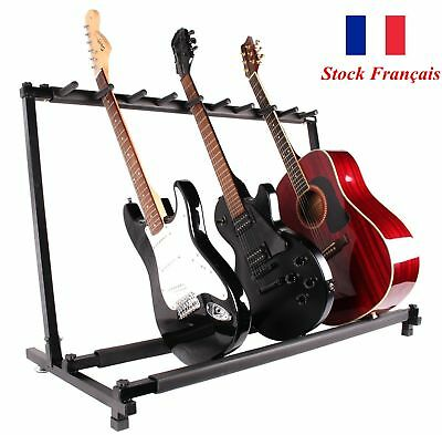 Guitar Stand 9 Rack Support Pliable Acoustique Bass Multiple Organisateur Stands