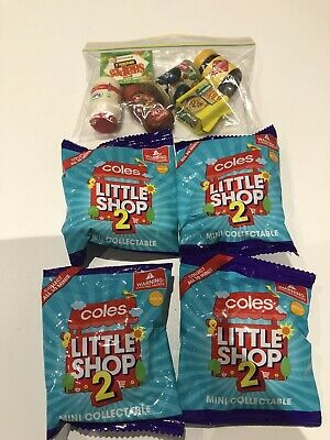 4 X Unopened Coles Little Shop Minis Series 2 Plus 6 X Spares
