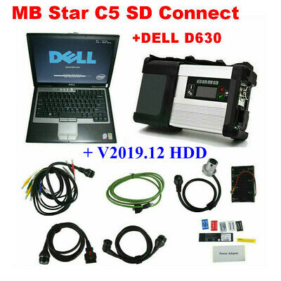 V2019.9 MB SD C5 SD Connect Compact 5 Star Diagnosis + Dell D630 for Cars&Trucks
