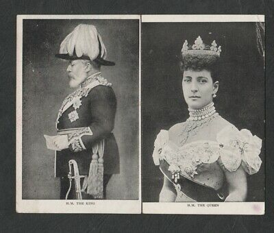 e3329)      EARLY ROYALTY POSTCARDS -  H.M. KING EDWARD VII  &  H.M. THE QUEEN