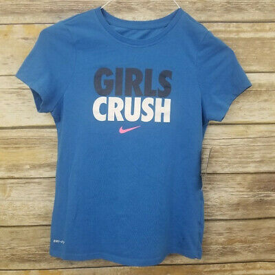 S M L XL  606377//400 $30 NWT Nike Girls Run Heritage Short-Sleeve Top Sz