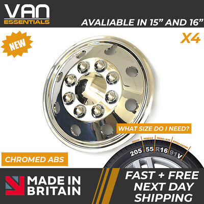 """Ford Transit Wheel Trims - A set of 4 x16"""" Chromed ABS  Wheelcover's"""
