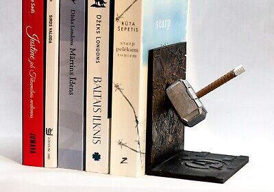 Mjolnir Thors Hammer Book Ends Avengers Marvel 3D printed painted