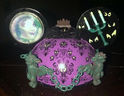 Disney Parks Haunted Mansion Ear Hat Ornament New With Tag. Hand Painted