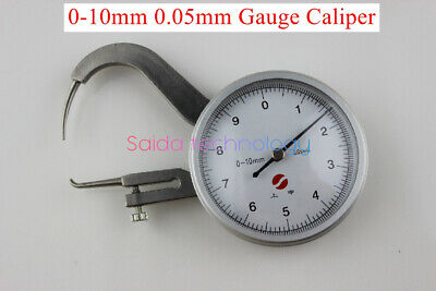 1PC Thick gauge instrument panel caliper 0-10mm 0.05mm dial caliper