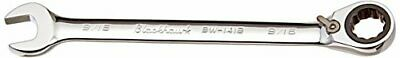 Blackhawk By Proto BW-1418 12 Point Combination Reversible Ratcheting Wrench, 9/