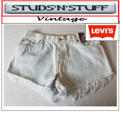 "Levis  Vintage Womens 550'S High Waisted Shorts Size 36"" Aprox Size 16  (A35"