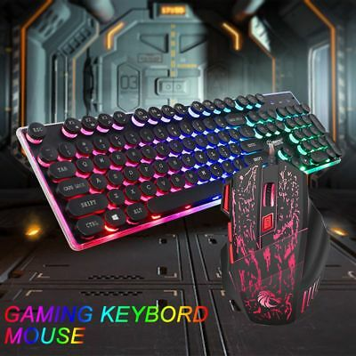 Gaming Keyboard Mouse Set Adapter for PS4 PS3 Xbox One and Xbox 360 Rainbow LED