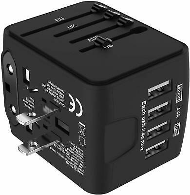 Jollyfit International Universal Travel Adapter 4 USB Charger AC Power Wall Plug