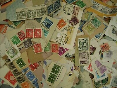 Rest of World Kiloware - 500 grams of on-paper stamps - old mixture - Freepost