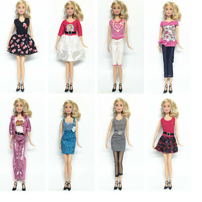 "5Pcs Lot Fashion Handmade Dresses Clothes For 11"" Barbie-Doll Style Random Gift"