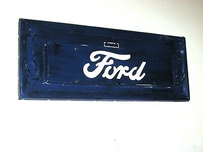 Vintage 1950's Ford Truck Metal Tailgate Replica Wall Mount Hand Built