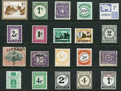 British Commonwealth Postage Due stamps - 20 different - as shown - CS002