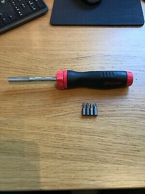 Snap On Ratchet Screwdriver In Red With Bits
