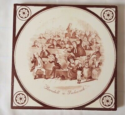 19Th C Charles Dickens  'Bardell V Pickwick' Legal Narrative Theme 6 Inch Tile