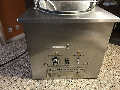 chocolate tempering machine Hilliard's up to 25lbs , 120V 400 watts.