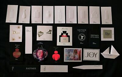 Dior mixed collection of perfume cards, blotters promotional mouillettes