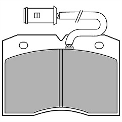 AP Lockheed LP863 Brake Pad Set FRONT for Iveco Daily II 89-98 OE 1906159